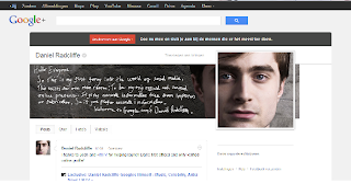 Exclusive: Daniel Radcliffe has joined social media: Google+