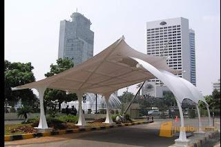 Tenda membrane/Canopy membrane tukang pembuat  tenda membrane di jakarta timur