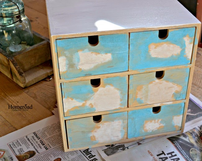 A Rustic Makeover of IKEA Storage Drawers www.homeroad.net