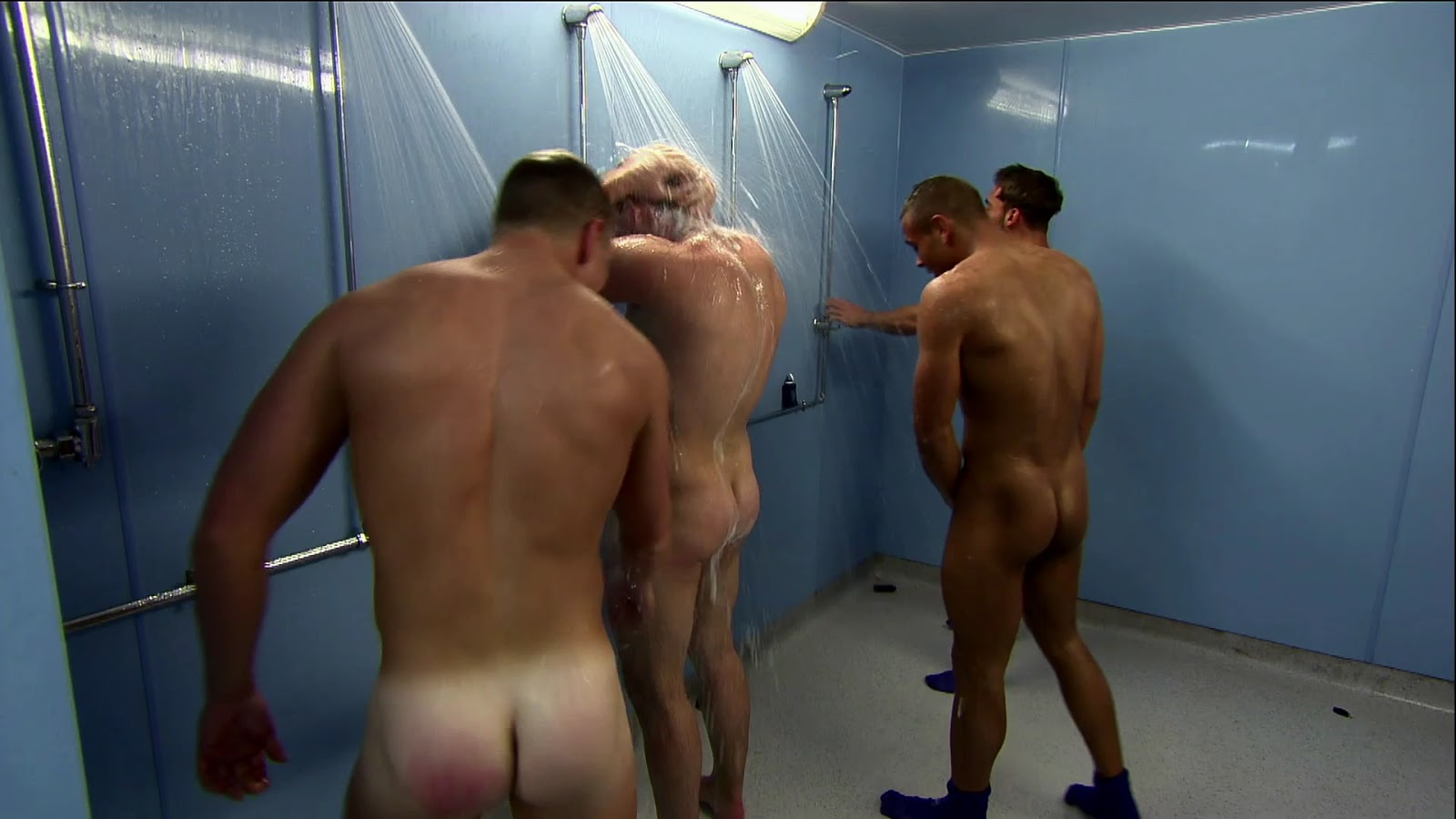 My own private locker room naked lads in sauna