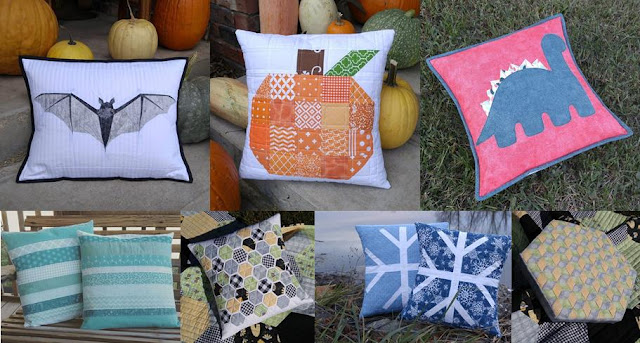Pillows made by Slice of Pi Quilts