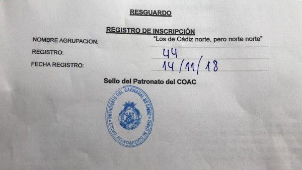 Los de Cádiz norte, pero norte norte (Chirigota). COAC 2019