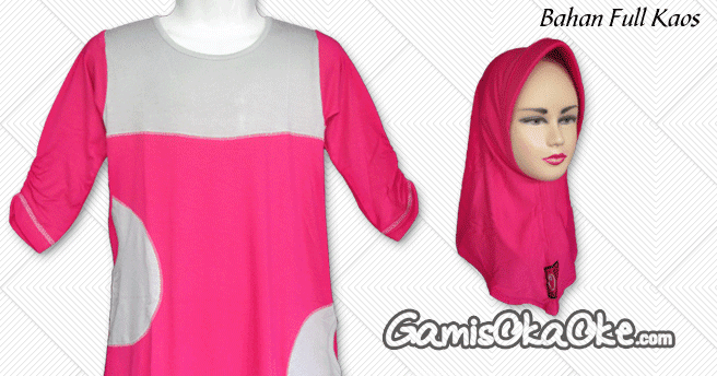 Koleksi Gambar Gamis Anak Oka Oke Warna Dominan Pink