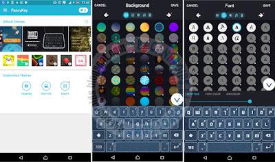 FancyKey Keyboard - Cool Fonts Aplikasi Perubah Teks keren unik Keyboard Android