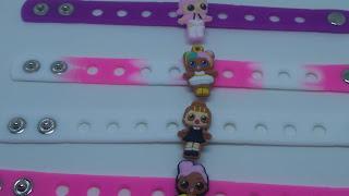 0 Braccialetti personaggi cartone animato LoL surprise dolls bamboline in 3D braccialetti in silicone personalizzati a tema gadgets fine festa di compleanno bambini