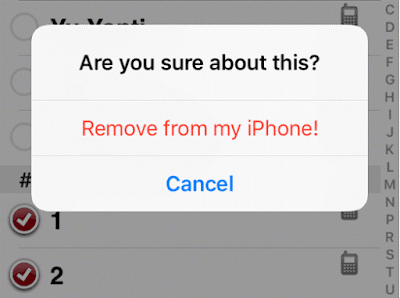 Remove from my iPhone