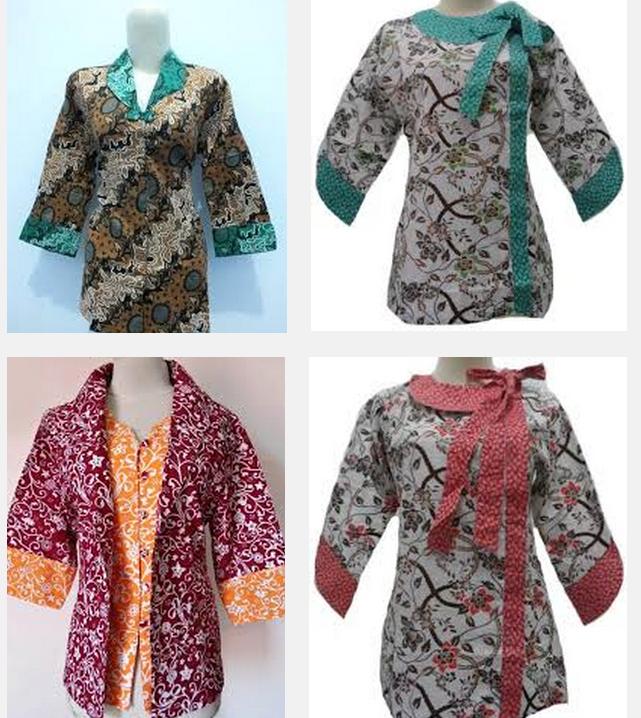 Contoh Baju Batik Guru: Model Baju Batik Kerja Untuk Wanita Gemuk Ibu Hamil Guru