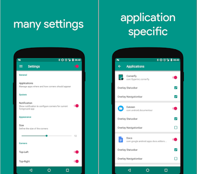 Cornerfly for android