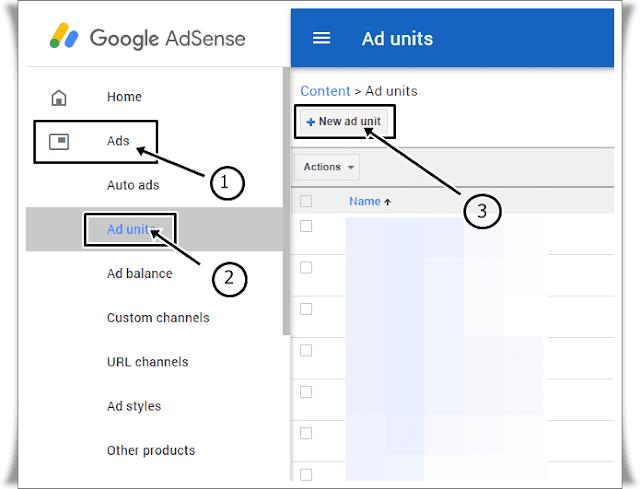 adsense ke ads kaise banaye, how to create adsense ad units in hindi
