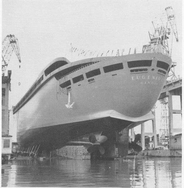 Eugenio C. the transom at the stern