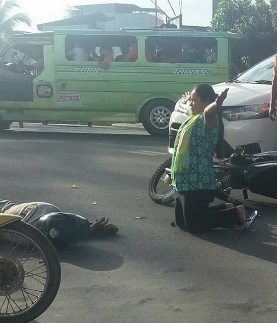 This Woman Knelt Down To Pray For A Man Who Got Caught In An Accident. What Happened Next Will Definitely Surprise You!