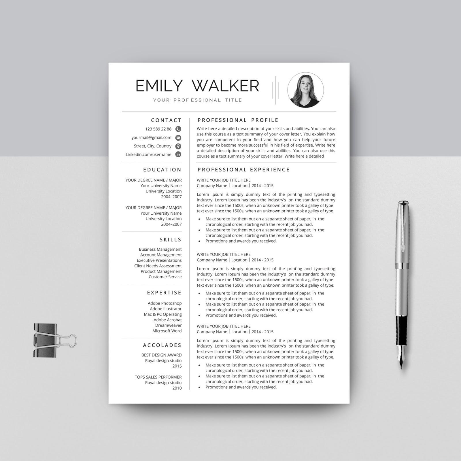 Professional google docs resume template