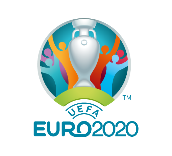 Logo de la Eurocopa de fútbol 2020 . Logotipo de Euro 2020