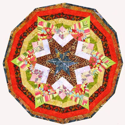 kaleidoscope Quilt by Monica Curry