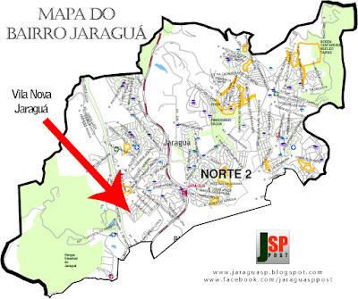 Posição da Vila Nova Jaraguá dentro do bairro Jaraguá