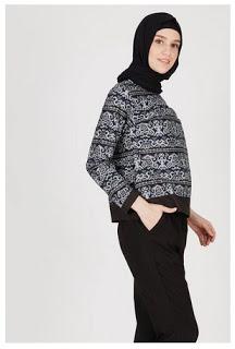 Model baju batik muslim modern untuk kerja