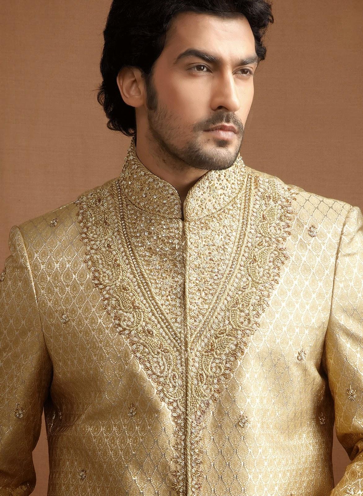 Beauty And Fashion Golden Sherwani