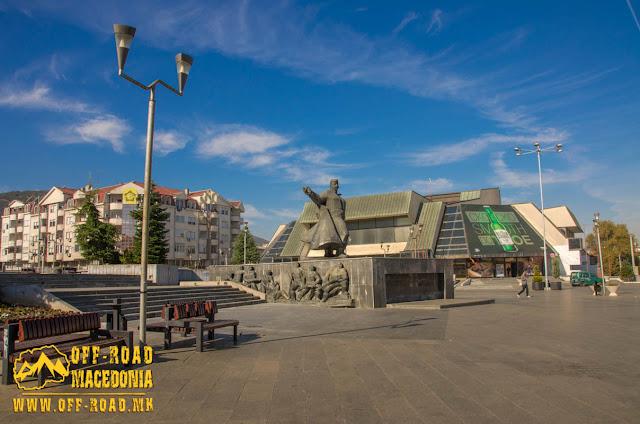 Goce Delchev monument - Strumica - Macedonia
