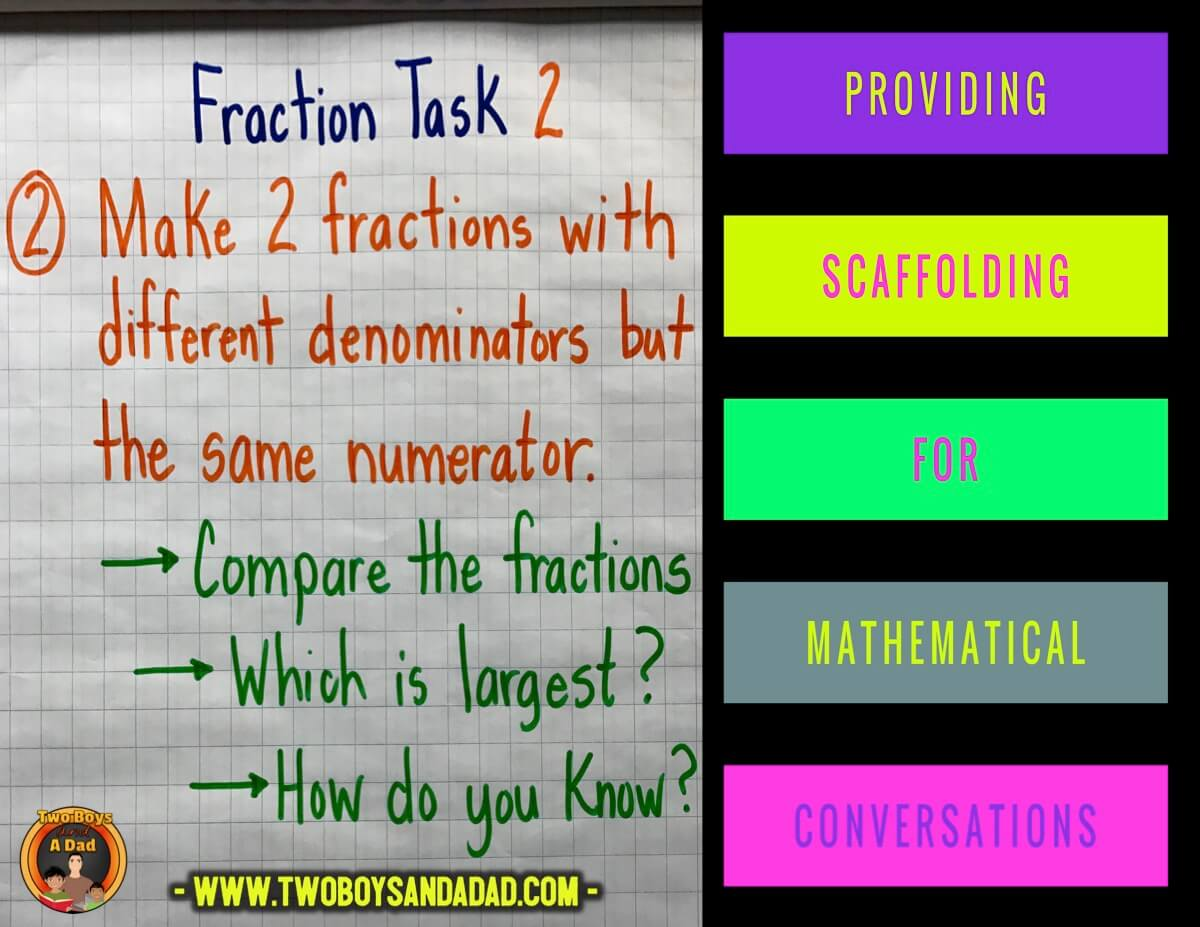 Providing scaffolding for mathematical conversations