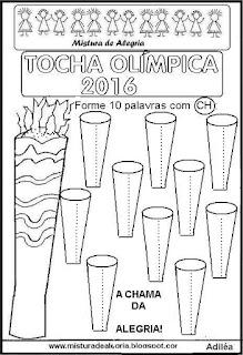 Tocha olímpica 2016,desenho para colorir