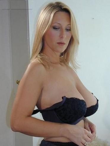 Blonde Black Bra 8