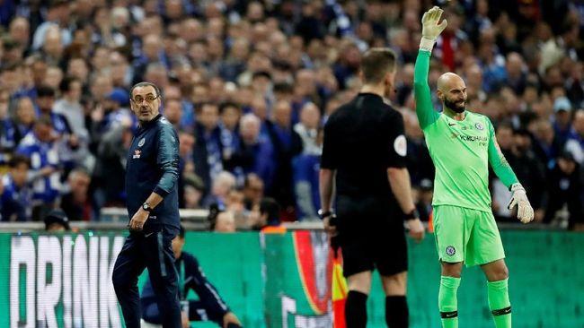 Menolak Diganti Di Chelsea Vs Man City Kepa Tidak Ditegur Sarri 2019