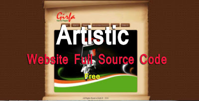 Artistic Website Full Source Code Free Download