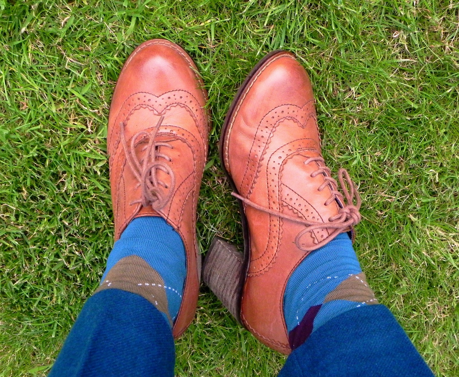 Fake Fabulous |Chunky Tan Brogues