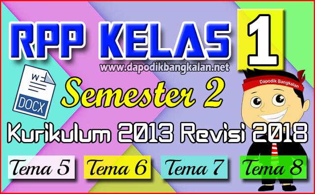 RPP Kelas 1 SD Semester 2 Kurikulum 2013 / K13 Revisi 2017 Semua Tema