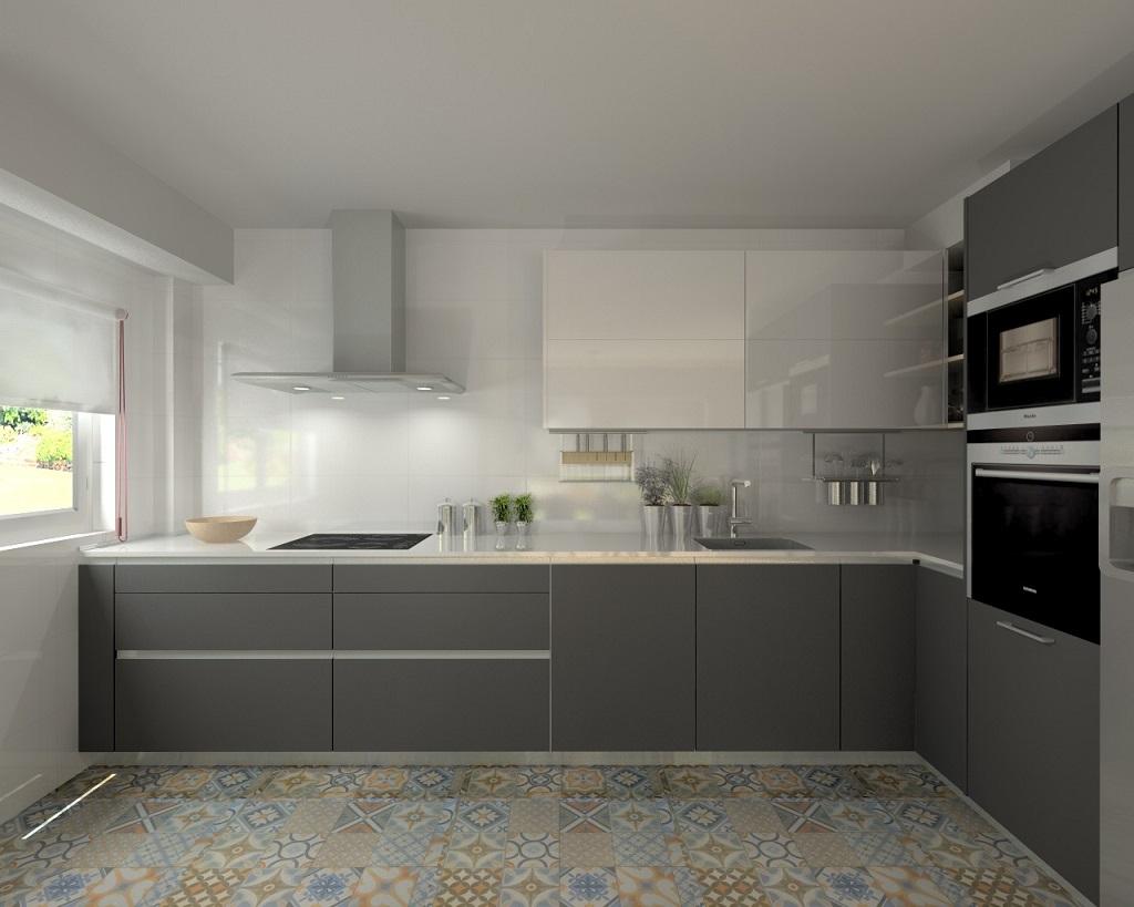 28 fotos de cozinhas em branco e cinza decora o e ideias for Idea deco para cocina gris