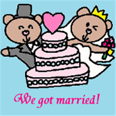 Cute wedding sticker1