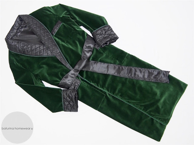 mens velvet dressing gown extra tall long luxury robe quilted warm