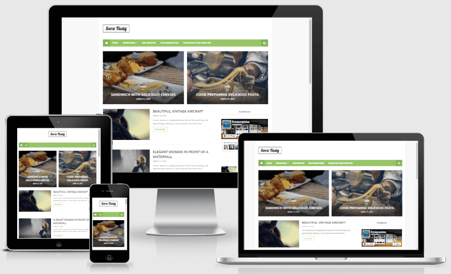 Sora Tasty - Responsive Smart and Clean Blogger Template
