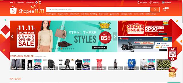 Cara Belanja Online di Situs Shopee