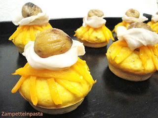 Muffin salati con castagne e zucca