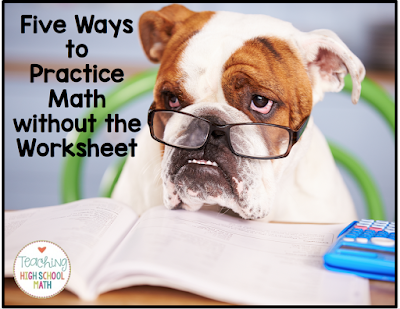 math worksheet : teaching high school math 5 ways to give your students math  : High School Math Practice Worksheets