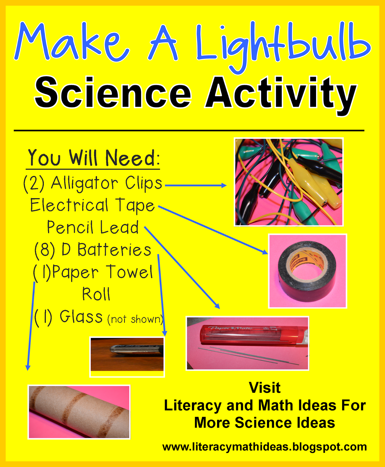 Literacy Amp Math Ideas Stem In The Classroom Make A Lightbulb