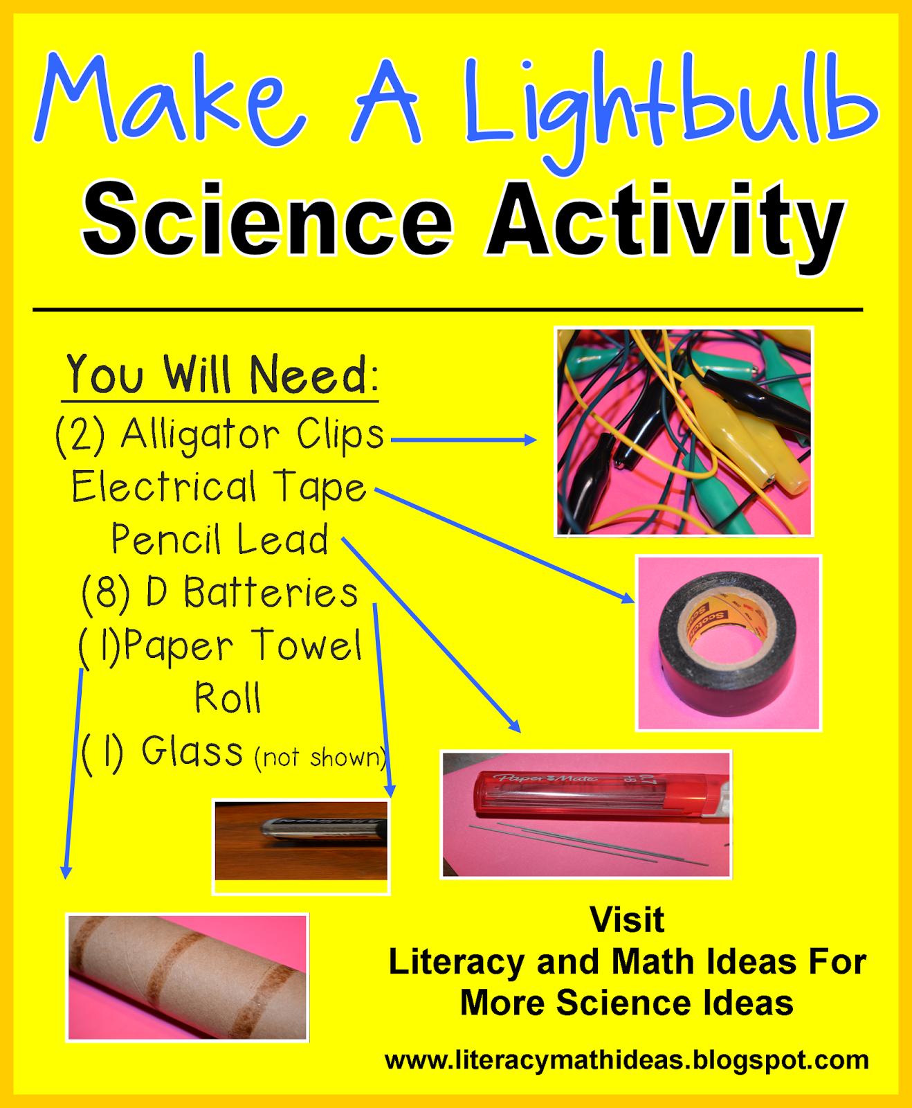 literacy math ideas stem in the classroom make a lightbulb. Black Bedroom Furniture Sets. Home Design Ideas