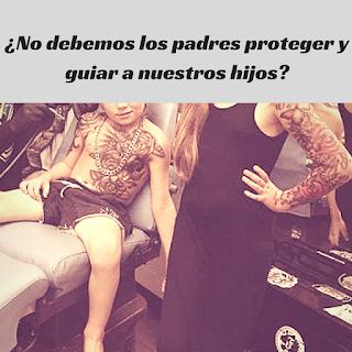 Los niños y los tatuajes, no deberiamos los padres protegerlos de ésto.