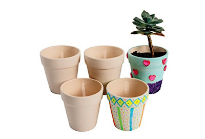 Paint a ceramic flower pot for Girl Scout Founder's Day