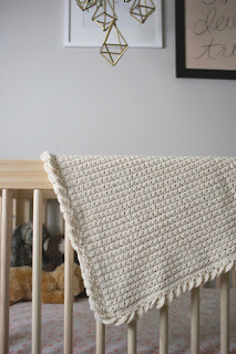 Baby Love Collection of baby blanket crochet patterns by Little Monkeys Design - Pure Love crochet baby blanket pattern