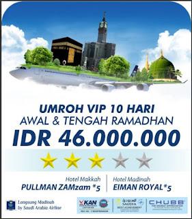 Umroh VIP 10 Hari Awal Ramadhan