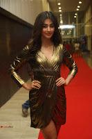 Pooja Hegde looks glamarous in deep neck sleevless short tight golden gown at Duvvada Jagannadham thank you meet function 011.JPG