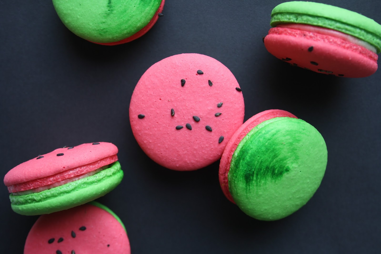 Floral Frosting: Watermelon Macarons