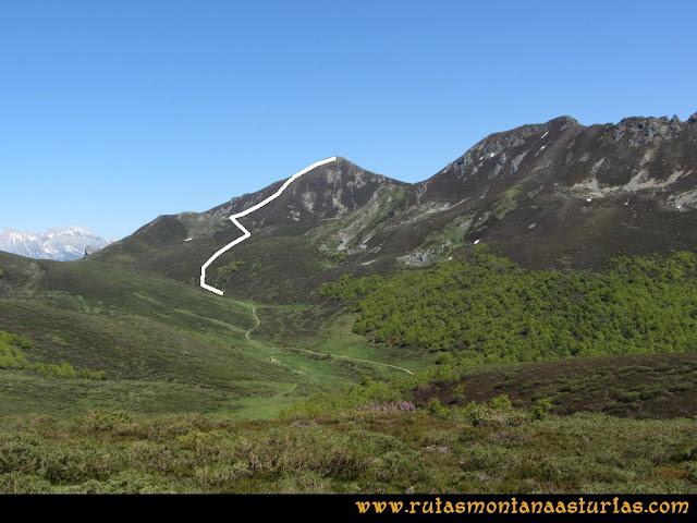 Transcantábrica Tarna-Ponga: De camino al pico Pozúa.