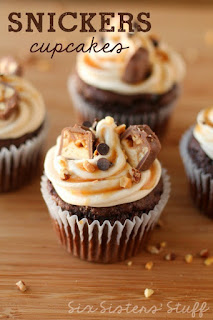 snickers cup cake photo