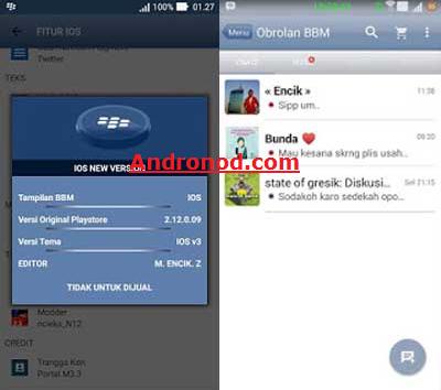 BBM Mod Tema IOS v2.12.0.9 Apk Clone | Not Clone