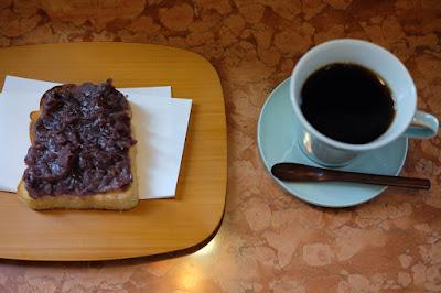 あんバタトーストと中川ワニ珈琲焙煎のブレンドコーヒー