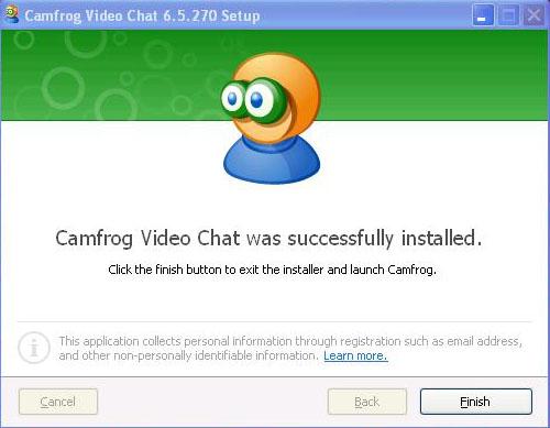 Install Camfrog 6.5 Finish