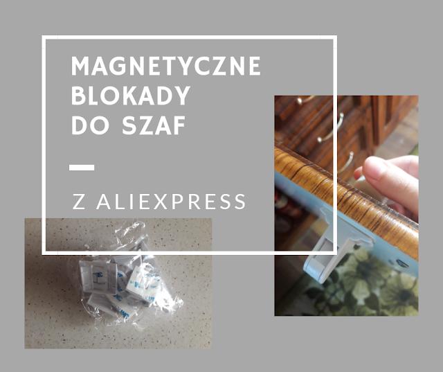 Magnetyczne blokady do szaf z Aliexpress.